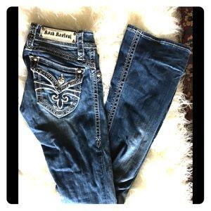 Rock Revival Heather Bootcut Jeans Sz 25 #48